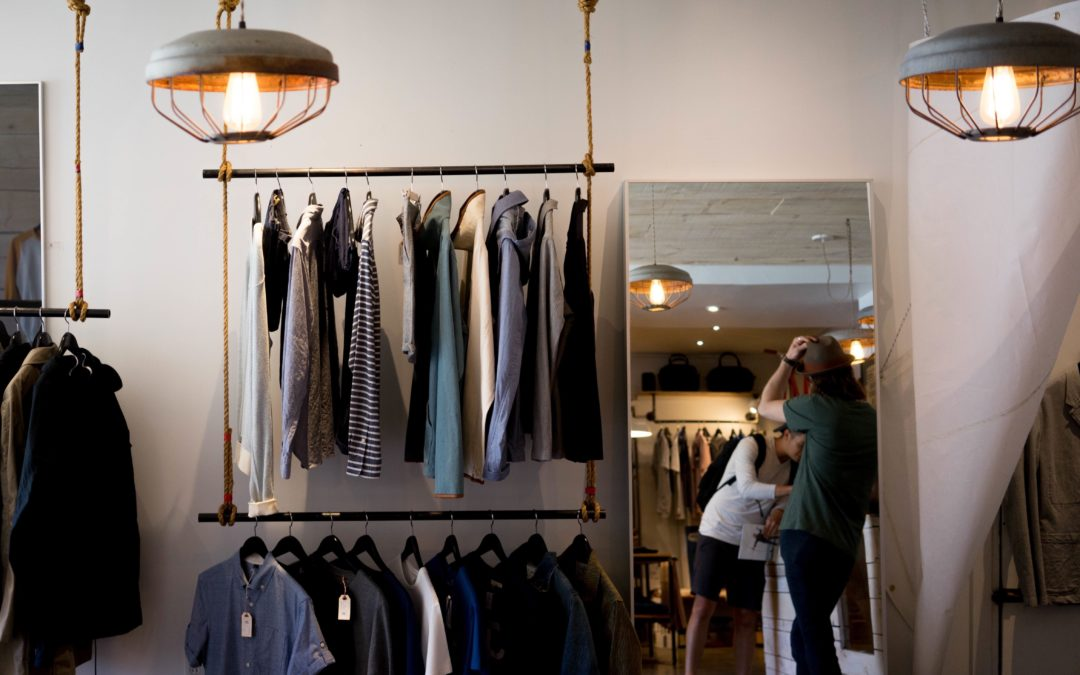 Inside of a men's clothing store