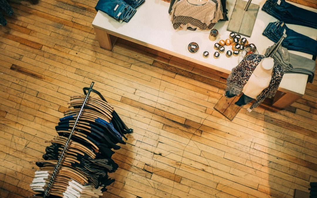 Birds eye view of sales floor