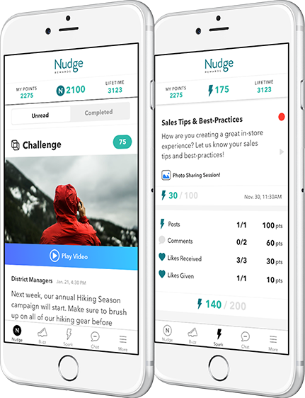 Nudge Rewards product shots