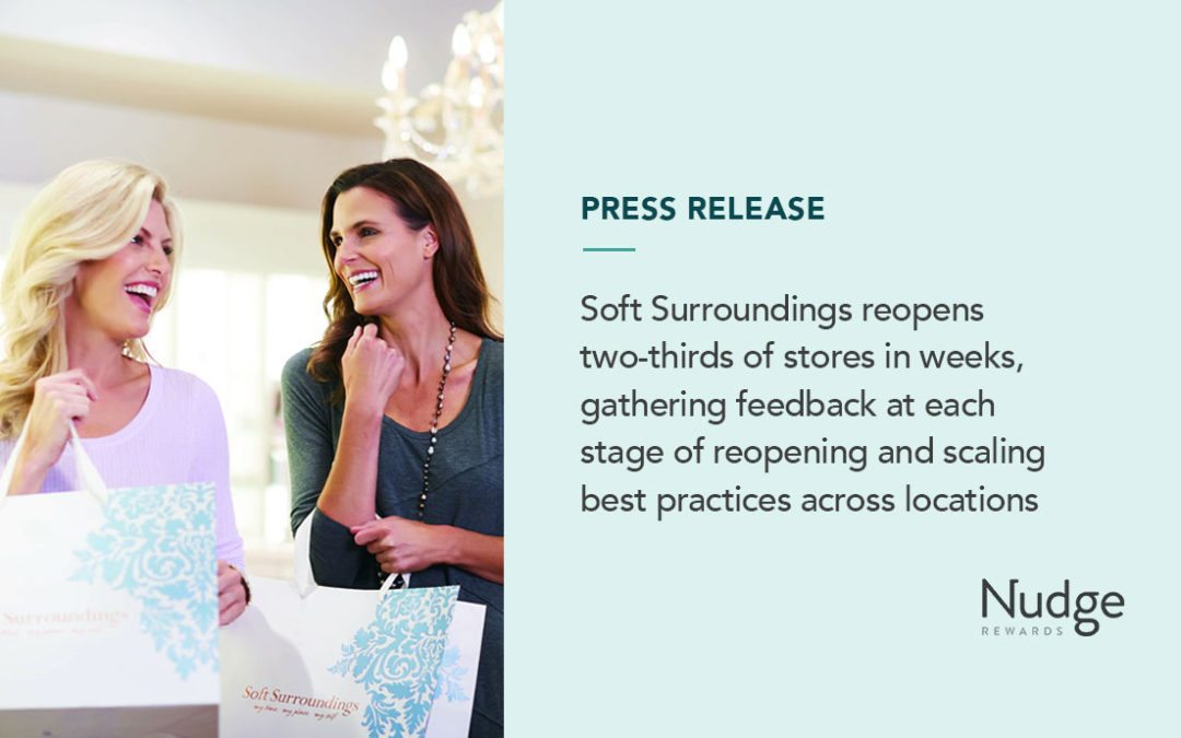Soft Surroundings reopens two-thirds of store locations in weeks, supporting frontline workers with Nudge