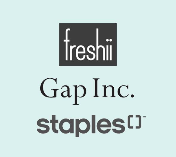 Freshii, Gap Inc., Staples